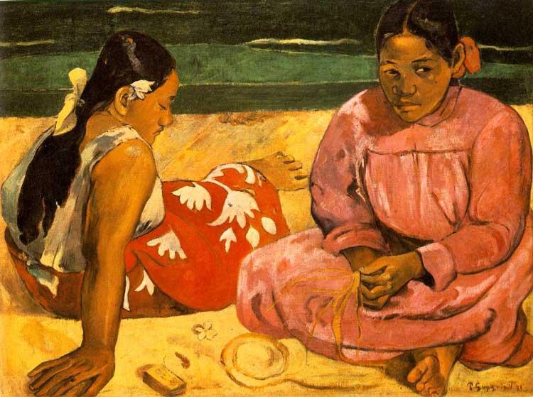 1891_duas_mulheres_praia Gauguin